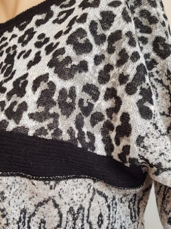 Airfield Animal Print Shirt Größe 36