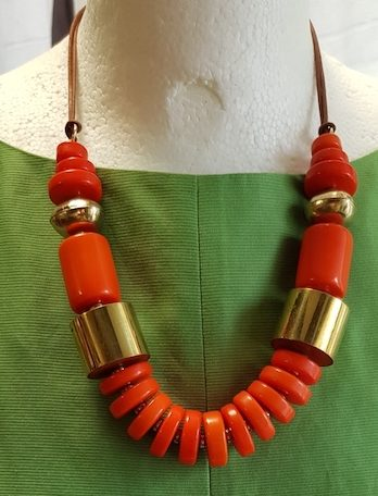 NEUE Kette One Size in Orange