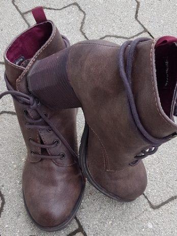 Booties Tamaris Größe 40 in Braun aus Leder
