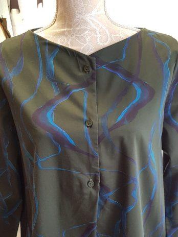 COS Kleid Größe 38 in Oliv und Blau