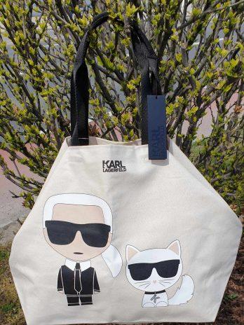 Karl Lagerfeld Textilshopper in Beige NEU