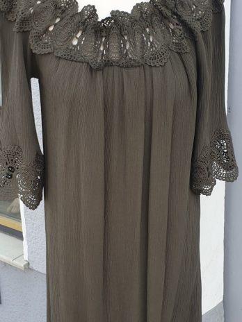 Spitzen Kleid Cream Größe 38 in Oliv