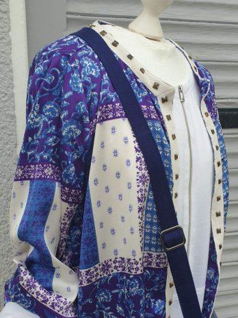 Jacke Peacocks Größe 38/40 in Blau/Lila