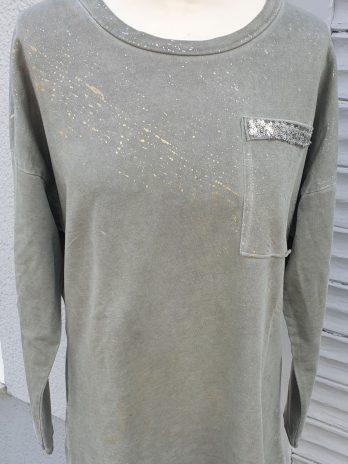 Sweater Größe Large in Khaki