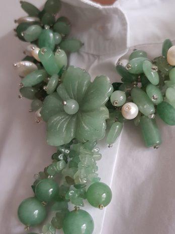 Steinkette für Damen in Grün NEU!