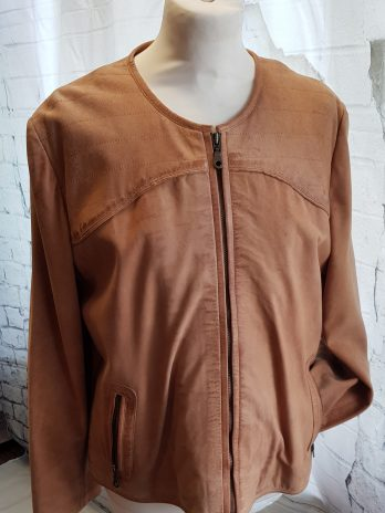 Jones Lederjacke Größe 44 in Cognac