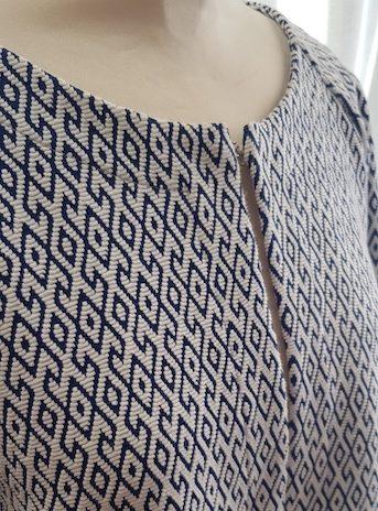 Jacke Benetton Größe Medium in Blau und Weiß