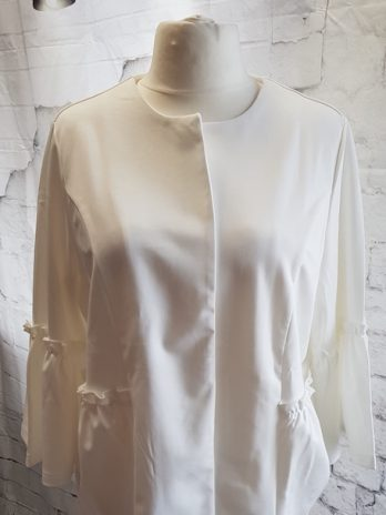 Shirtjacke NEU! Alessa W. Größe 50 in Offwhite