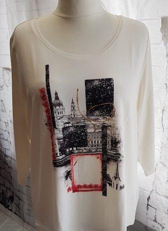 Shirt NEU! Ambria Größe 48 in Creme