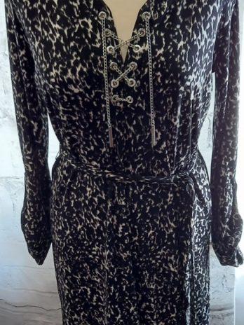 Kleid Michael Kors Größe 36 in Schwarz und Weiß