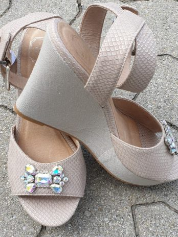 Sandale SMH Größe 39 in Beige NEU