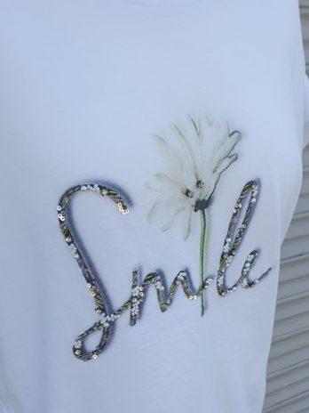 Shirt Jones Größe 34, in Weiß/Floral
