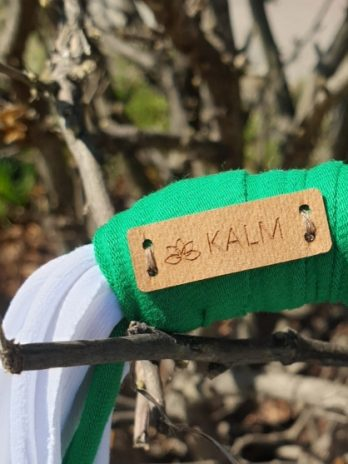 Grün/Weiße Textil Kette KALM