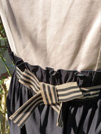 PAULE KA Kleid Größe 40 in Beige/Schwarz