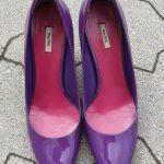 Schuhe MIU MIU, Größe 38 in Lila aus Leder