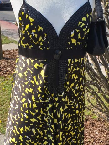 Seiden Kleid Semperlei Größe 38 in Gelb/Schwarz
