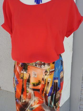 Bluse Alba Moda Größe 36/38 in Rot