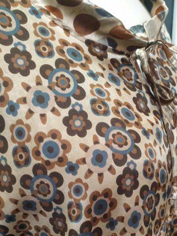 Bluse Bottega Größe 50 Braun/Beige