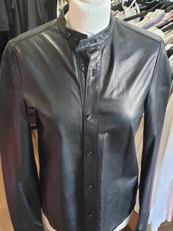 Diesel Lederhemd Größe Small in Schwarz