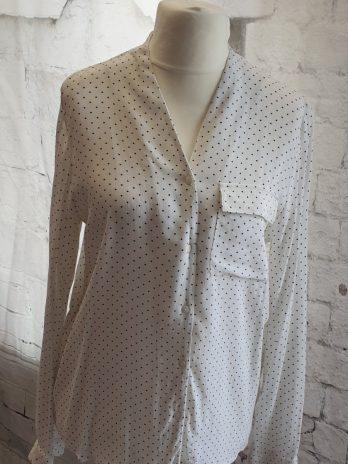Bluse Vero Moda Größe Medium, Weiß|Schwarz