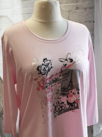 Via Appia Shirt Größe 46 in Rosa