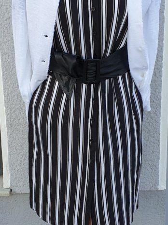 Kleid Comma Größe 34 in Schwarz/Weiß
