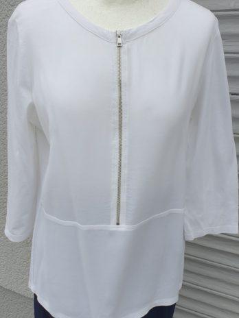 Bluse OUI Größe 36 in Weiß