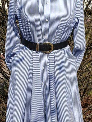 Kleid Christian Berg Größe 44 in Weiß/Blau