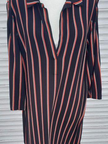 Kleid Hallhuber Größe 44 in Rot/Schwarz