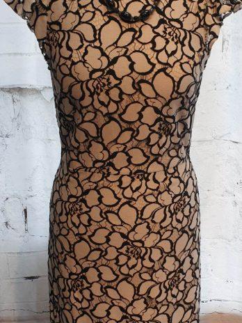 Kleid Größe 34 in Schwarz/Weiß