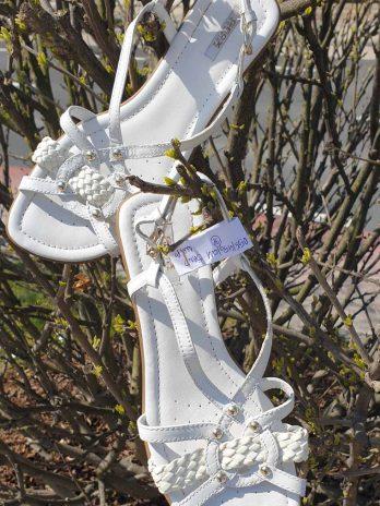 Geox Ledersandalen Größe 38 in Weiß