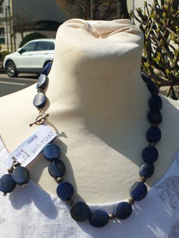 Lapislazuli Steinkette & Ohrringe in Blau