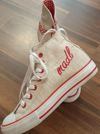 Sneakers Krüger Größe 38 in Beige/Rot