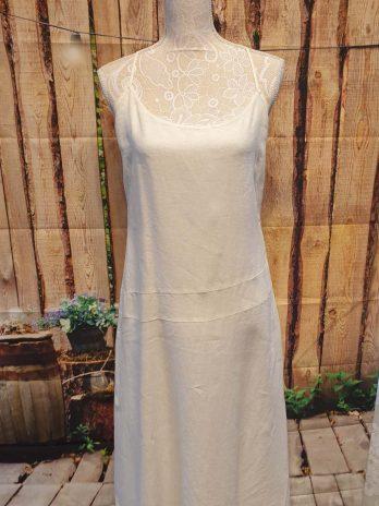Leinen Kleid Zara Größe Large in Creme