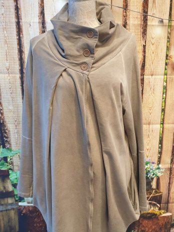 Sweaterjacke Größe 40/42 in Schlamm