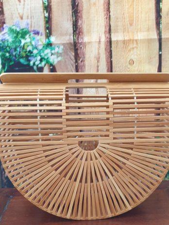 Tasche aus Bambus in Beige NEU