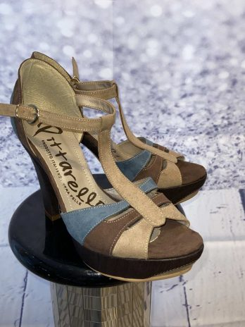 Sandale Pitarello 39 in Braun| Türkis NEU