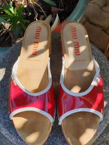 Clog's MIU MIU, Größe 39 in Rot aus Leder