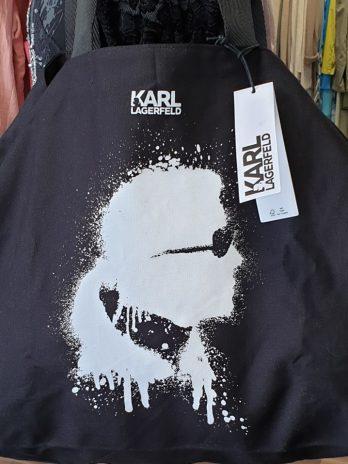 """Shopper Canvas Leinen """"Karl Lagerfeld"""" in Schwarz NEU"""