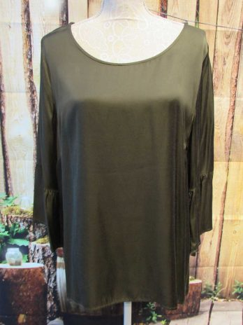 Bluse Comma 42 in Oliv