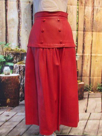 Lederrock 36 in Rot