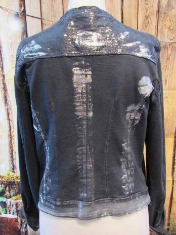 Jacke Made in Italy 38 in Blau| Silber