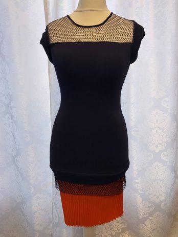 """Kleid Vionett """"Small  Medium"""" in Dunkelblau  Orange"""