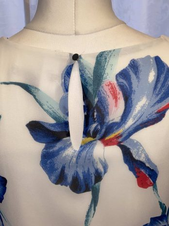 Top Comma 34 in Blau  Floral