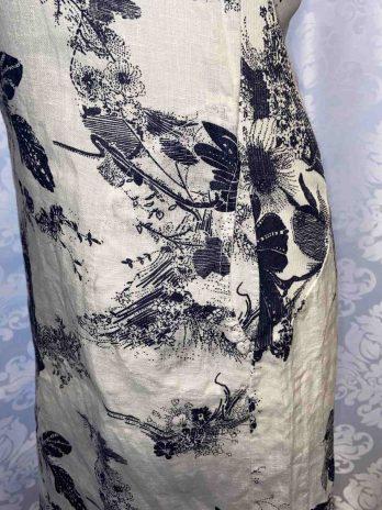 Kleid 36 in Weiß| Blau