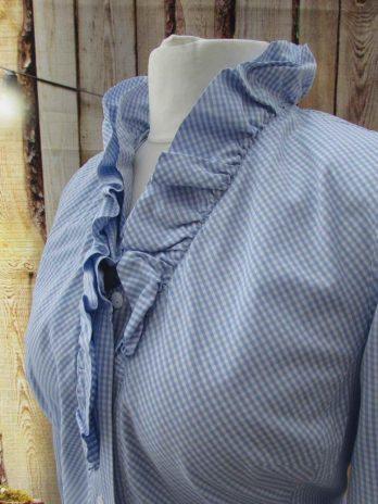 Bluse KR 44 in Blau| Weiß