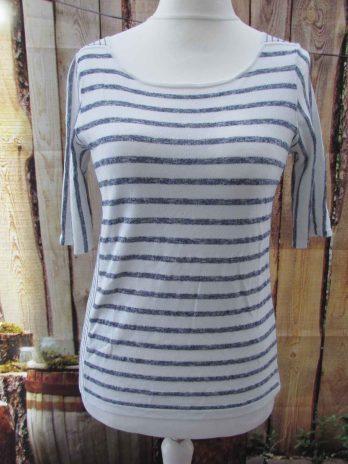 Shirt Oui 34| 36 in Blau| Weiß