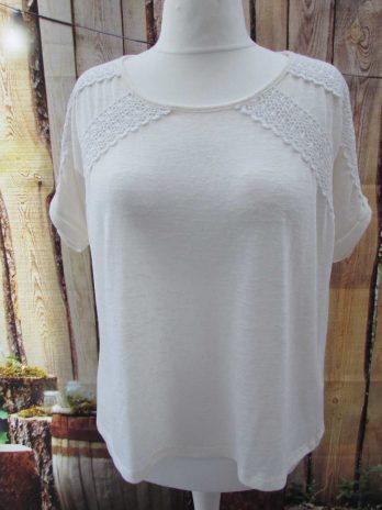 Pullover Oui 44 in Creme