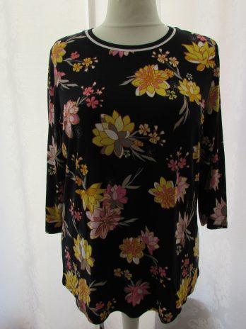 Shirt Betty Barclay 44 in Schwarz| Gelb| Pink