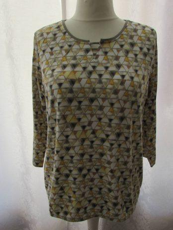 Shirt Rabe 44 in Gelb| Grau